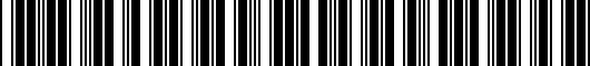 Barcode for PT9197619421