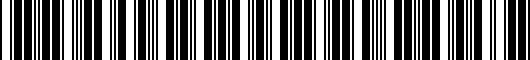 Barcode for PT94424150FR