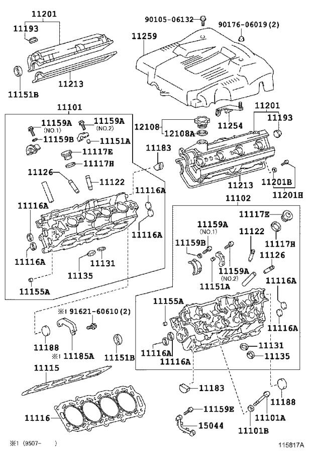 Lexus Ls 400 Engine Variable Valve Timing  Vvt  Solenoid