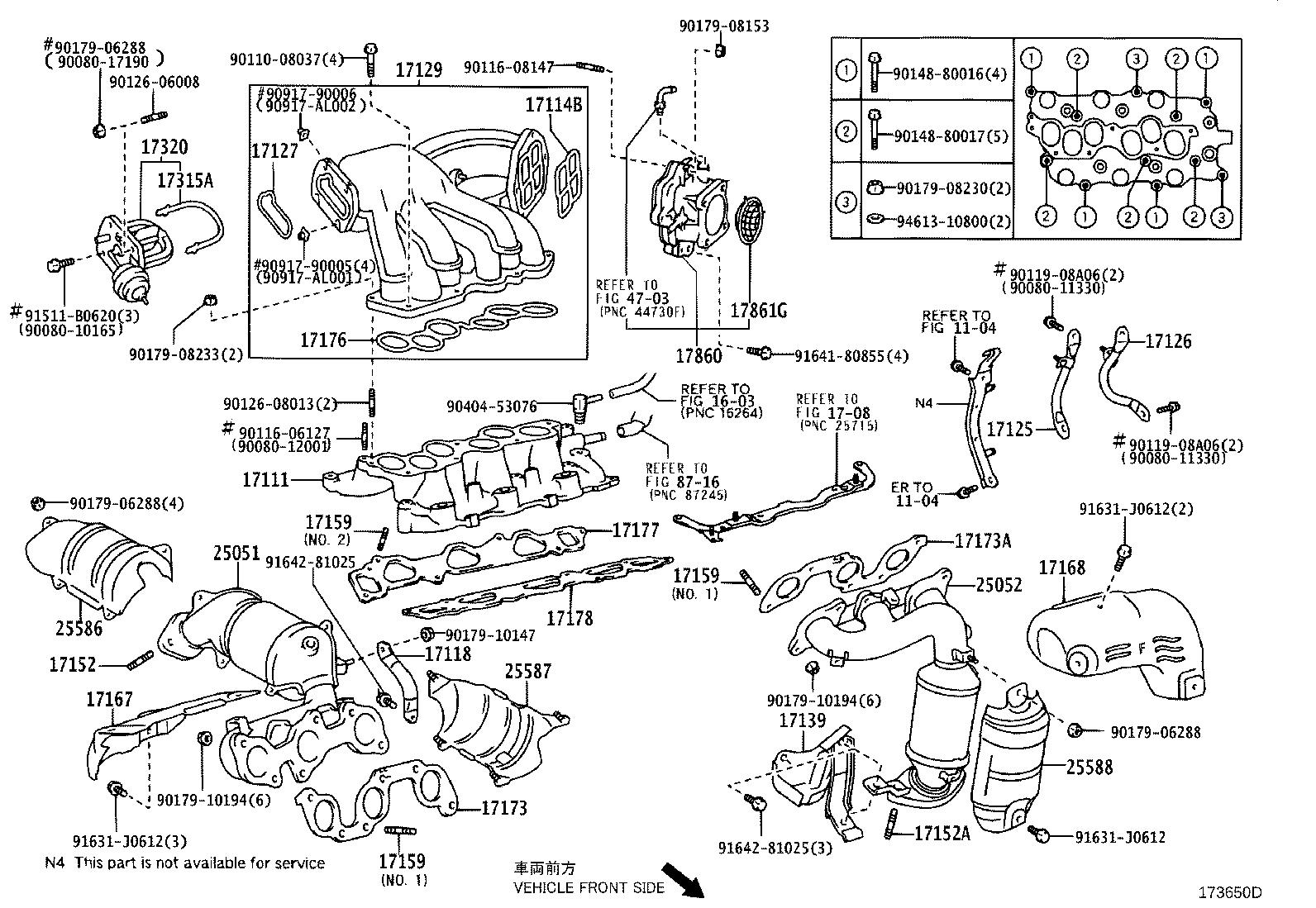 2505220190 - Catalytic Converter With Integrated Exhaust Manifold