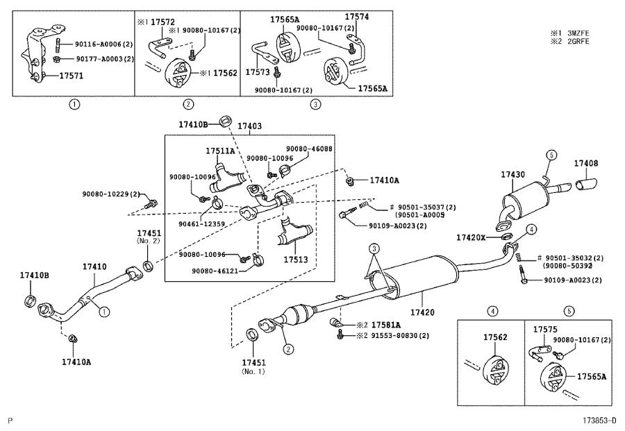 1758131010 - Damper  Exhaust Pipe  Engine