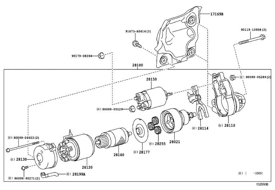 1994 Lexus Starter Heat Shield. Engine - 1716938030 ...
