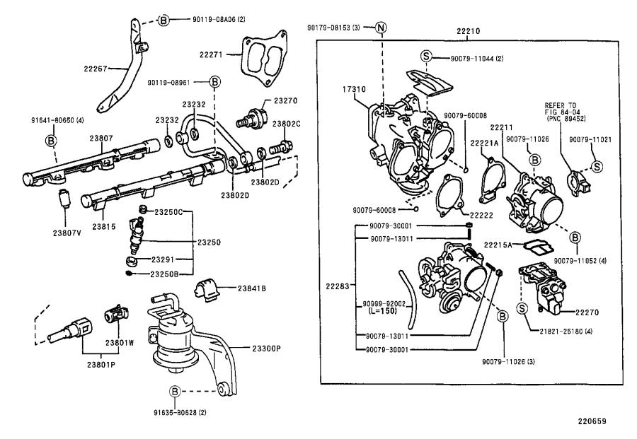 222700a040 - Fuel Injection Idle Air Control Valve  Valve  Idle Speed Control  For