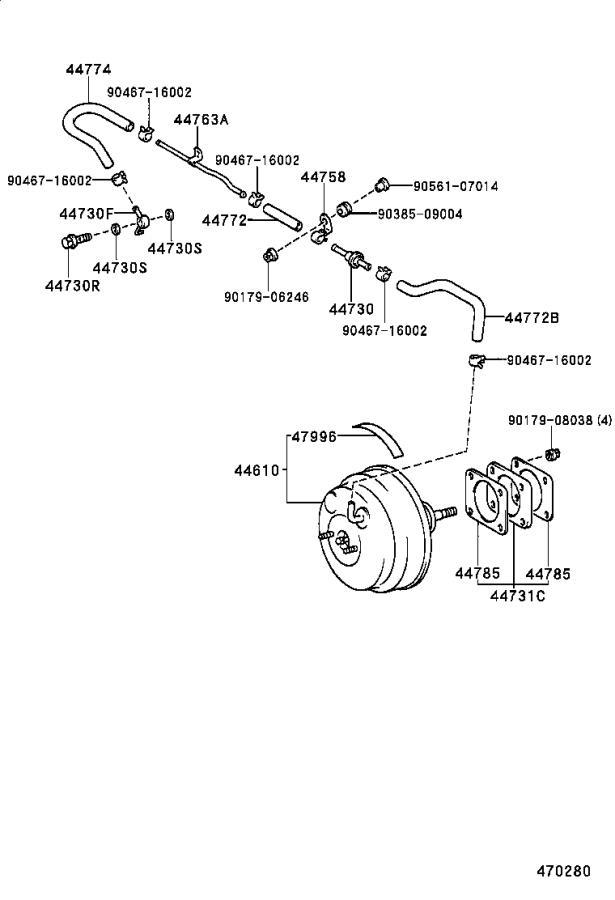 4461050240 - booster assembly  brake  brakes