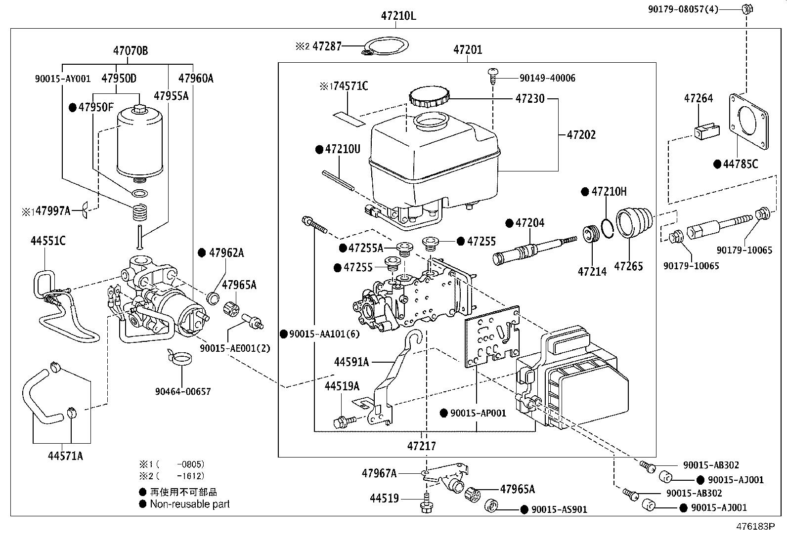 4705060180 - Brake booster assembly, with master cylinder ...