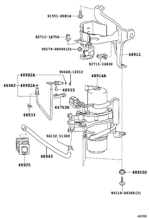2008 Lexus Ls 600h L 5 0l Air Suspension Compressor