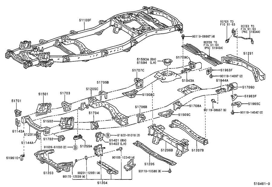 2003 Lexus Lx 470 Tow Hook  Right  - 5196360040