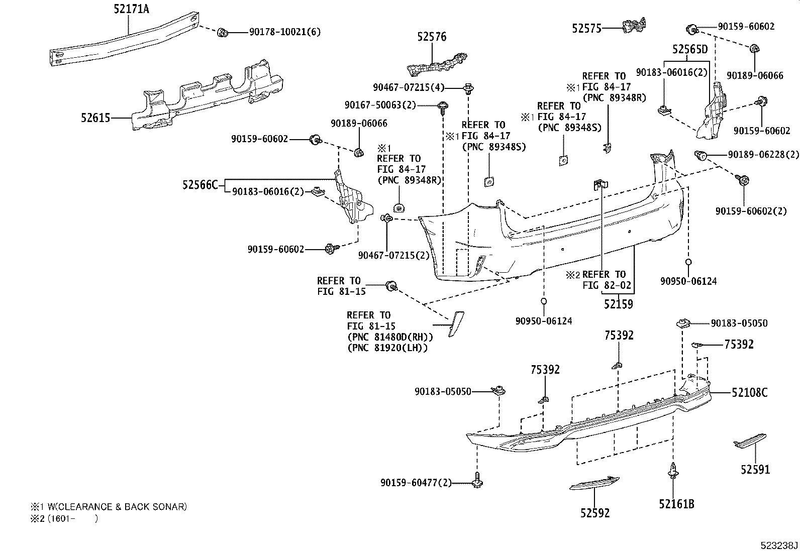 525650e030 - retainer  rear bumper  lower right