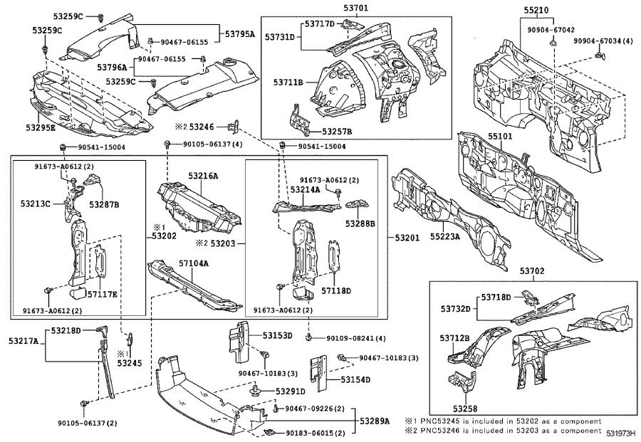 5329553010 - Seal  Cool Air Intake Duct