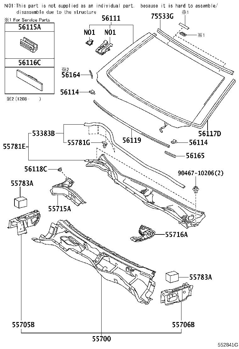 561013a983 - Glass Sub-assembly  Wind  Pre  System  Collision