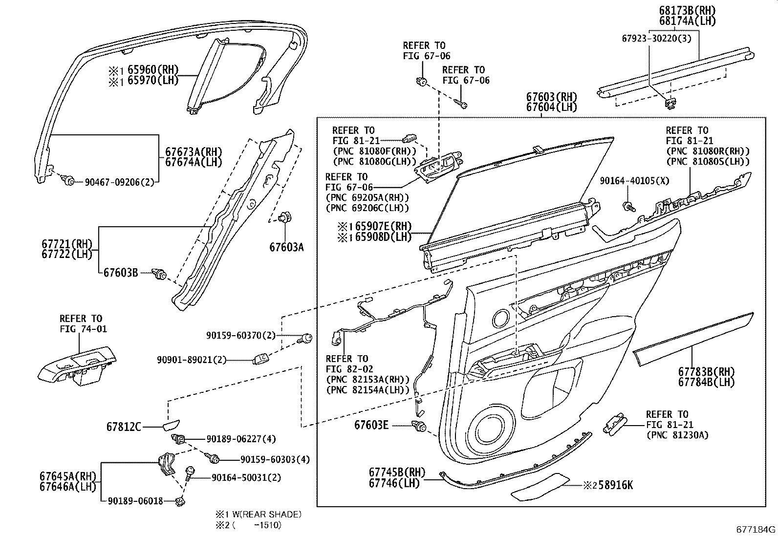 6787130310 - Weatherstrip, rear door, right. Panel, trim ...