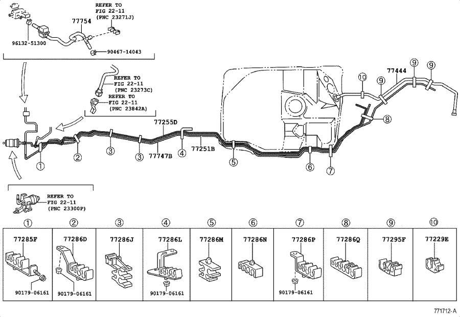 Lexus LX 470 Evaporative Emissions System Lines. Hose ...