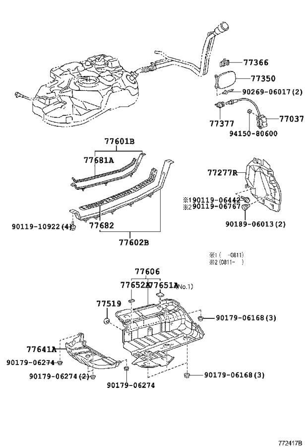 Lexus Rx 350 Fuel Pump Wiring Harness  Tank  Tube