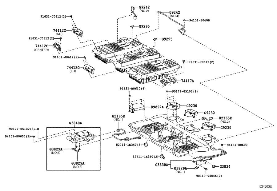 2006 Lexus Rx 400h 3 3l Battery Cover  Insulator  Battery