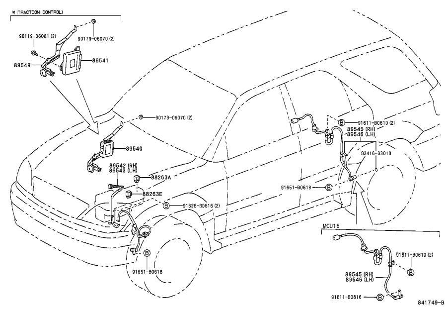 8924560010 - Steering Wheel Position Sensor  Switch  Engine  Door