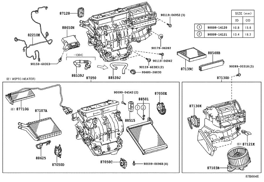 8710375021 - motor sub-assembly  blower with fan  conditioning  heating  air