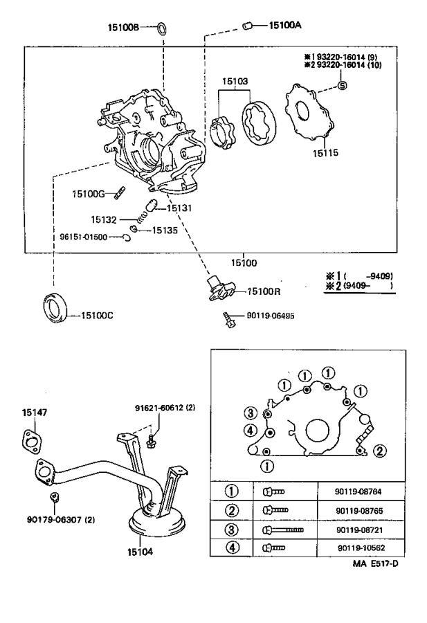 9091905002 - Sensor, crank position. Engine - Genuine ...