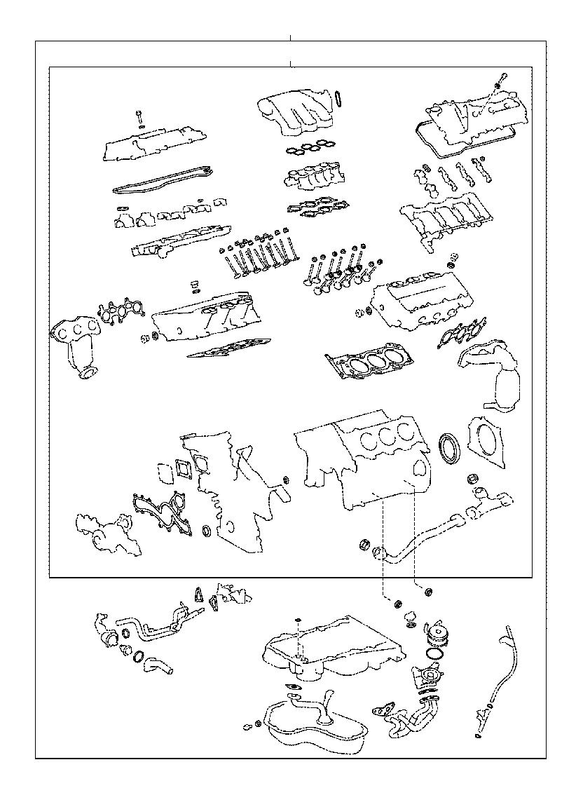 041120p055 - Engine Cylinder Head Gasket Set  Gasket Kit  Engine Valve Grind
